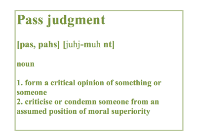 pass judgment